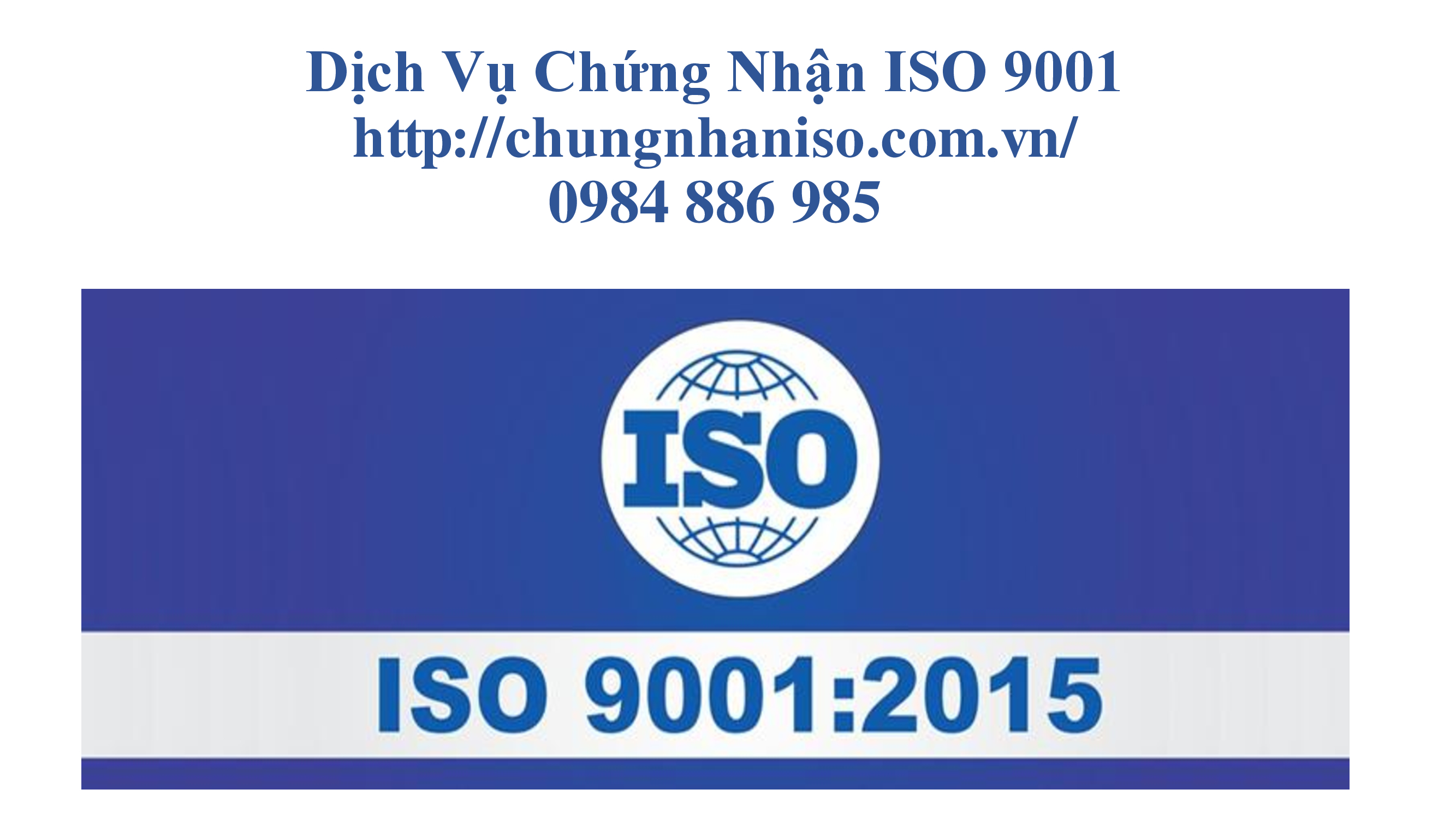 Dịch vụ chứng nhận iso 9001