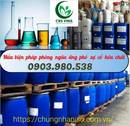 Mẫu biện pháp phòng ngừa ứng phó sự cố hóa chất